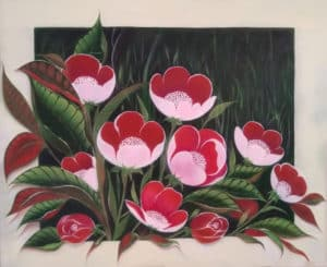 Beautiful Painting of Pink Flowers