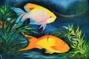 Painting of Fishes in the Ocean